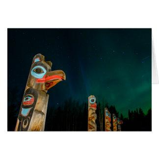 Tlingit Totem Poles Greeting Card