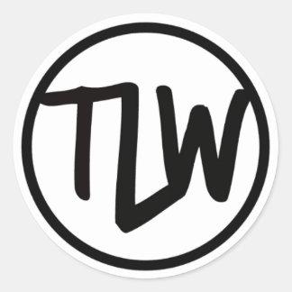 TLW logo sticker glossy