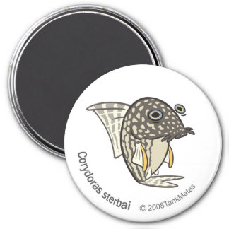TM-08-Corydoras sterbai 7.5 Cm Round Magnet