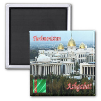 TM - Turkmenistan - Ashgabat - Panorama Square Magnet