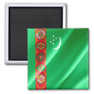 TM - Turkmenistan - Flag Waving Magnet