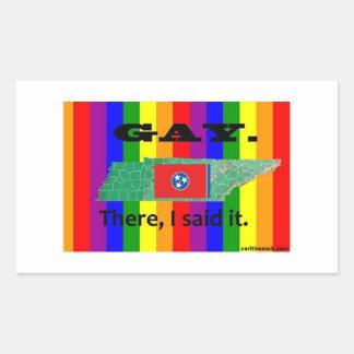 TN Gay. Rectangular Sticker