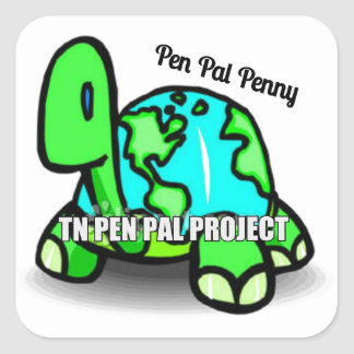 TN PEN PAL FUNDRAISER PRODUCTS SQUARE STICKER