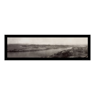 TN River Chattanooga Photo 1909 Poster