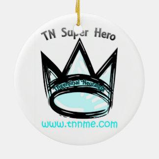 TN Super Hero Holiday Ornament. Christmas Ornament