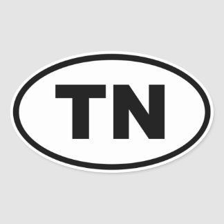 TN Tennessee Oval Sticker
