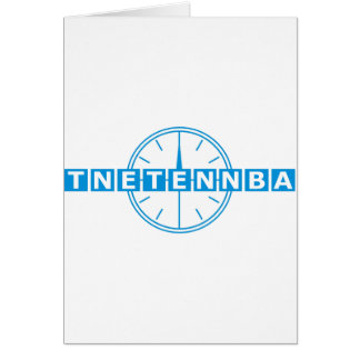 Tnetennba Clock Design Card