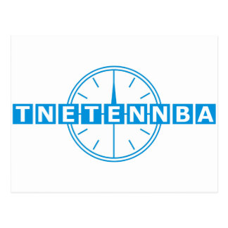 Tnetennba Clock Design Post Card
