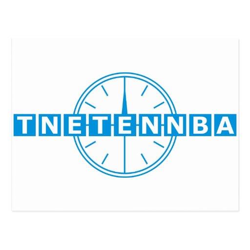 Tnetennba Clock Design Post Card