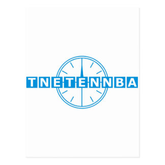 Tnetennba Clock Design Postcard