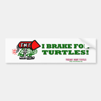 TNT - I Brake for Turtles Bumper Stickers