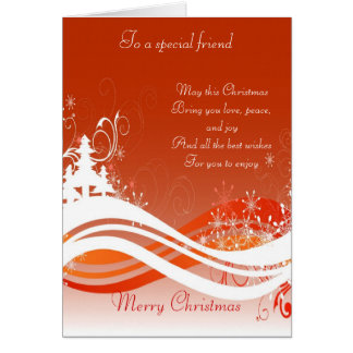 To a special friend at Christmas Card