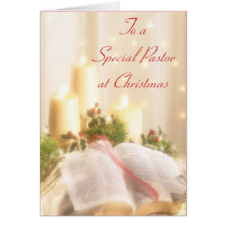 To A Special Pastor at Christmas Card