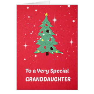 To a Very Special Granddaughter Greeting Card
