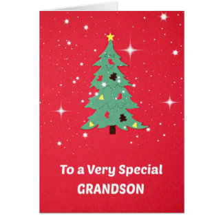 To a Very Special Grandson Greeting Card