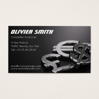 To advise Financial Business Card