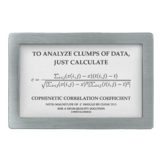To Analyze Clumps Data Calculate Cophenetic Corr Belt Buckles