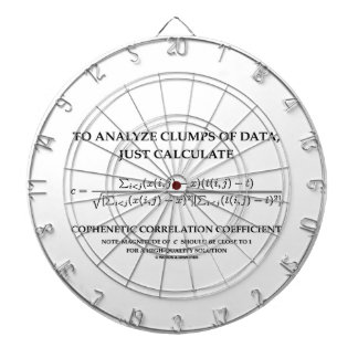 To Analyze Clumps Data Calculate Cophenetic Corr Dartboards