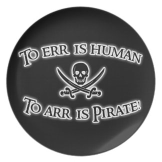 To Arr is Pirate! Plate