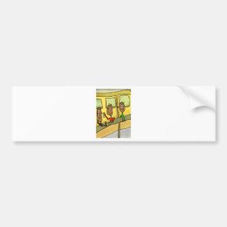 To bar bumper sticker