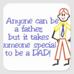 To Be A Dad Square Sticker