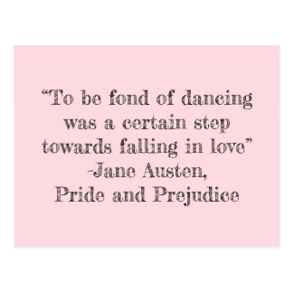 To be Fond of Dancing Postcard