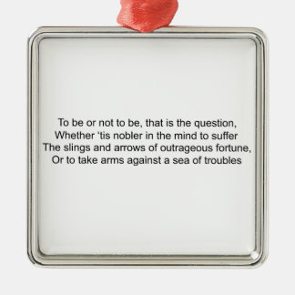 To Be Or Not To Be - Hamlet Christmas Ornament
