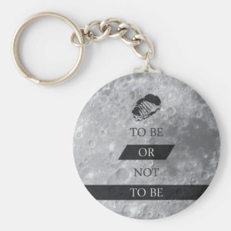 To Be or Not To BE Shakespeare Quotes Basic Round Button Key Ring
