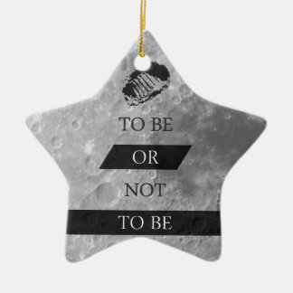 To Be or Not To BE Shakespeare Quotes Christmas Ornament