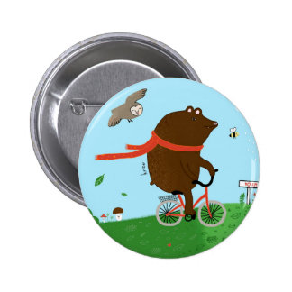 To bear goes to the City 6 Cm Round Badge
