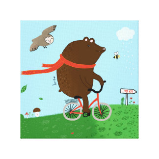 To bear goes to the City, Canvas Artwork Canvas Print