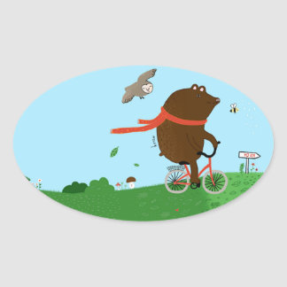 To bear goes to the City, sticker