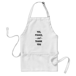 To behave in society aprons
