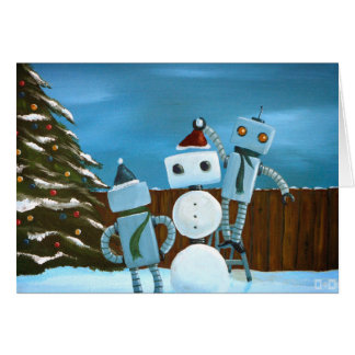To Build A Snow-Bot Holiday Greeting Card