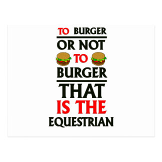 To Burger Or Not To Burger Postcard