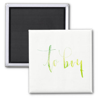 To Buy Greenly White Shopping Planner Office Home Square Magnet