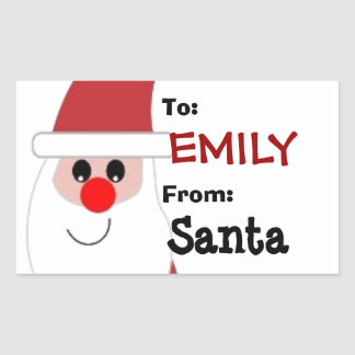 To Child From SANTA Gift Label Red and White V5A