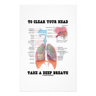 To Clear Your Head Take A Deep Breath Custom Stationery