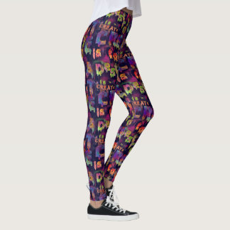 to CREATE is to DESTROY Graffiti Printed Leggings