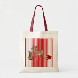 to deer and rabbit tote bag