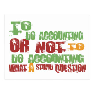 To Do Accounting Postcard