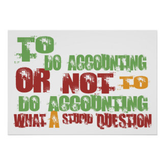 To Do Accounting Poster