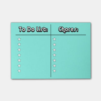 To Do/Chores list Post-it Notes