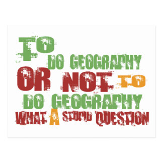 To Do Geography Post Card