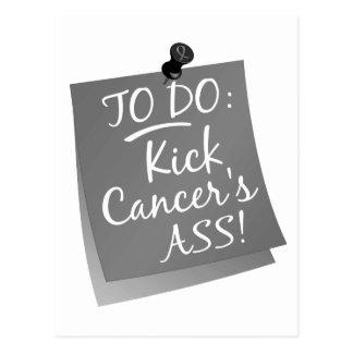 To Do - Kick Cancer's Ass Brain Postcard