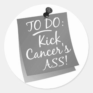 To Do - Kick Cancer's Ass Brain Round Sticker