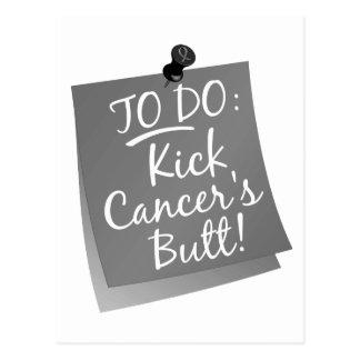 To Do - Kick Cancer's Brain Cancer Postcard
