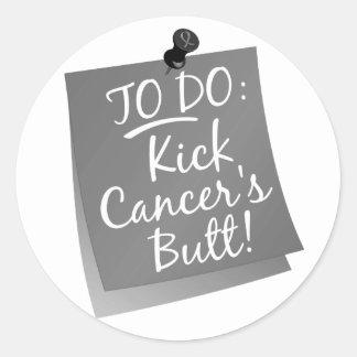 To Do - Kick Cancer's Brain Cancer Round Sticker