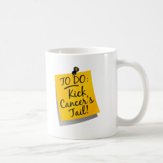 To Do - Kick Cancer's Tail Childhood Classic White Coffee Mug