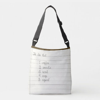 To Do List Crossbody Bag